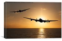 Lancaster Bombers at Sunset, Canvas Print