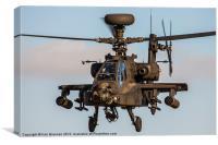 Dirty AH 64 Apache, Canvas Print