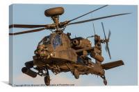 Dirty AH64 Apache 2, Canvas Print