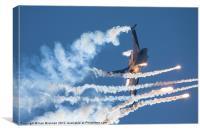 F16 Countermeasures 2, Canvas Print