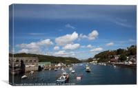 Looe Harbour Cornwall, Canvas Print