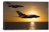 Sunset Sortie Tornado GR4 2, Canvas Print