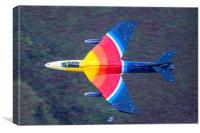 Miss DeMeanour Hawker Hunter Jet, Canvas Print
