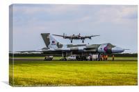 Vulcan XH558 and BBMF Lancaster, Canvas Print