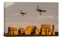 Hurricanes over Stonehenge, Canvas Print