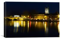 Henley Night scene, Canvas Print
