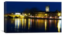 Henley Night scene 16:9, Canvas Print