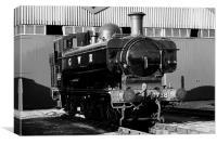 Pannier tank steam train, Canvas Print