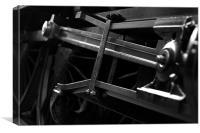 Steam Train pushrods, Canvas Print