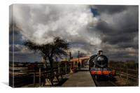 GWR Steam Train at Platform, Canvas Print