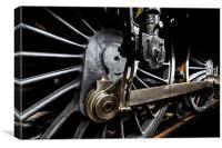Steam Train Wheels, Canvas Print