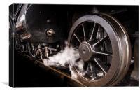 Steel Wheel and Steam valves, Canvas Print