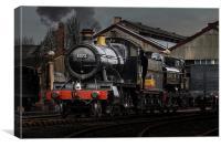 BR Steam train pannier Tank, Canvas Print