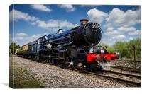 King Edward II Steam Train, Canvas Print