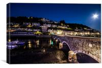 Looe Harbour bridge, Canvas Print