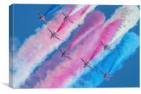 The RAF Red Arrows Waddington, Canvas Print