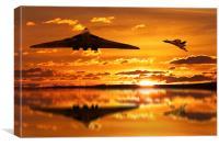 Vulcan Bomber Sunset, Canvas Print