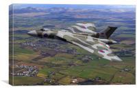 Vulcan Bomber XJ824 Scotland, Canvas Print