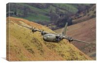 RAF Hercules low level sortie, Canvas Print