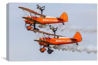 Breitling Wing Walkers Abingdon 2014, Canvas Print