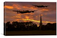 Lancs over Lincolnshire, Canvas Print