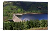 Lancasters over Derwent Dam, Canvas Print