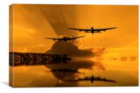 Lancasters and Sun Rays, Canvas Print