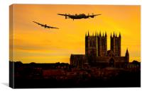 Lancasters over Lincoln, Canvas Print