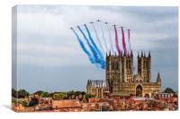 Red Arrows over Lincoln Cathedral