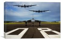Avro trio flypast, Canvas Print