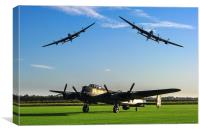 Three Lancaster Bombers, Canvas Print