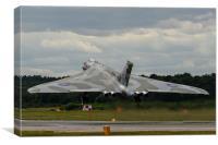 Vulcan bomber XH558 at Farnborough, Canvas Print