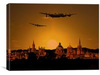 Oxford lancaster sunset, Canvas Print