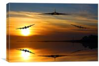Vulcan and Lancasters sunset, Canvas Print