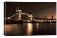Tower Bridge Toned, Canvas Print