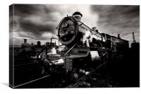 Steam Train Engine, Canvas Print