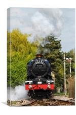 Steam Train King Edward II, Canvas Print