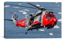 Royal Navy Sea King rescue Helicopter, Canvas Print
