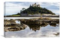 St Michaels Mount Cornwall , Canvas Print