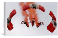 Sky Dive team, Canvas Print