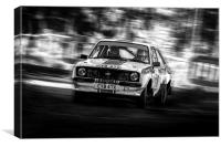 Ford Escort Mk2 tempest rally, Canvas Print