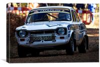 Classic Ford Escort Mk1 rally car, Canvas Print