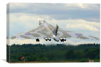 XH558 Avro Vulcan Bomber, Canvas Print