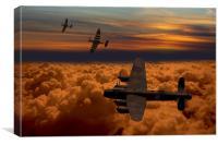 Sunset Spitfire escort, Canvas Print
