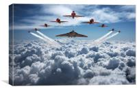 Vulcan and Red Arrows farewell flight