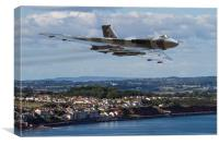 Vulcan Bomber XH558 Dawlish 2015, Canvas Print
