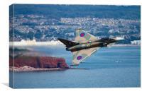 Typhoon Gina at Dawlish air show, Canvas Print