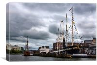 SS Great Britain in Bristol, Canvas Print