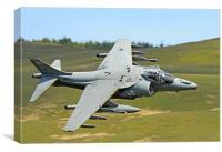 Harrier Jump Jet Cad West, Canvas Print