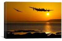 Lancasters reach Landfall, Canvas Print